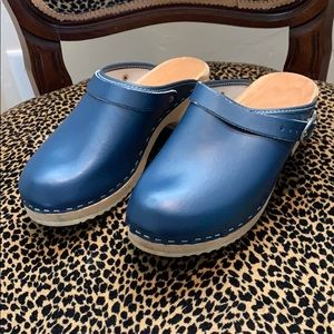 Shoes - Swedish Navy Clogs, Size 7